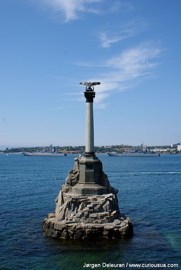 curiousua com monument to the sunken ships sevastopol crimea ukraine photo joergen deleuran