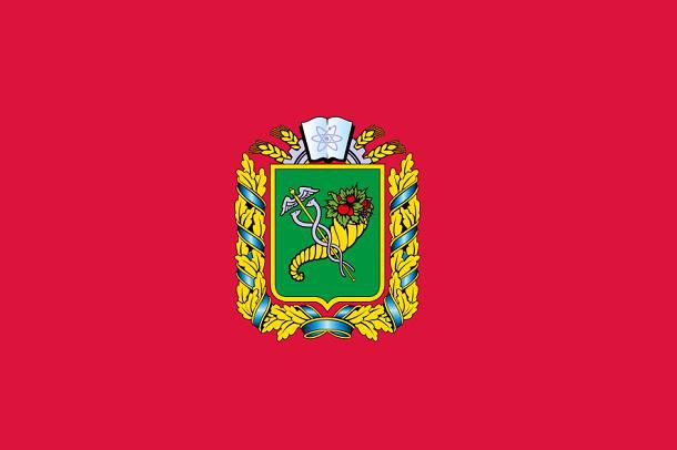 The flag of the Kharkiv region has crimson color with a picture of the coat of arms, which is the central element of the flag. The symbols of the region was approved on May 11th 1999.
