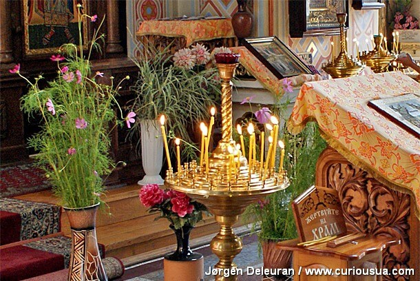 Sanctification of candles and purification of Candlemas