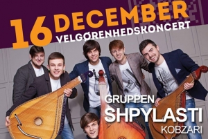 A poster for the charity concert of Shpylasti Kobzari in Denmark.