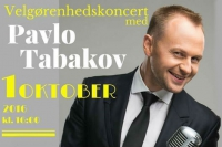 A poster for the charity solo concert of Pavlo Tabakov in Denmark.