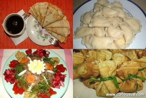 Crepes, vareniki, and aspic are traditional dishes for Pancake Week in Ukraine.
