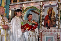 Ordination of Father Vasyl Tyhovych as a priest in the Church of St. Nicholas in the Ivano-Frankivsk region. 24 December 2006.