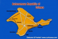 Map of Crimea.