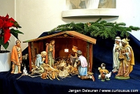 Baby Jesus in the manger. From Christmas mass in Sct. Norbert Church in Vejle, Denmark, 2012.