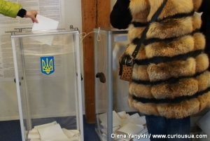 The Ukrainians vote on Ukraine's future president.