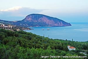 Gurzuf on the Black Sea coast. In the background you can see the Bear Mountain. 2012.