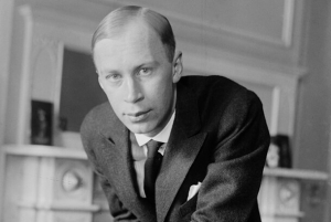 Sergey Prokofiev. 1918. Unknown photographer. Public domain. Available from the United States Library of Congress's Prints and Photographs division.