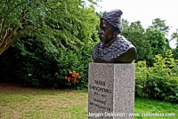 A monument to Taras Shevchenko in Copenhagen.